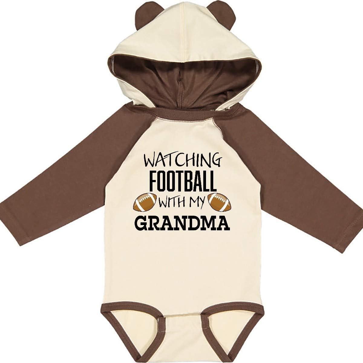 inktastic Watching Football with My Grandma Long Sleeve Creeper