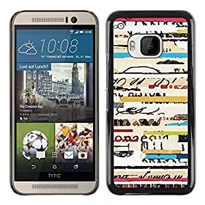 All Phone Most Case / Hard PC Metal piece Shell Slim Cover Protective Case Carcasa Funda Caso de protección para HTC One M9 text ticket travel concert cool lines