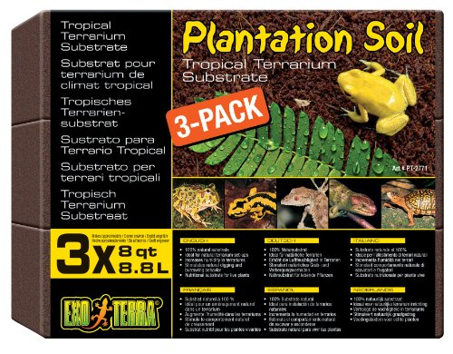 (Exo Terra Plantation Soil, 8 Quarts, 3-Pack)