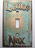 Lumos/Nox (Harry Potter) Light Switch Cover (Custom) (Aged Patina)