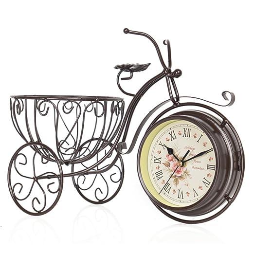 HU Reloj de Soporte de Mute Doble Cara, Reloj de Bicicleta de ...