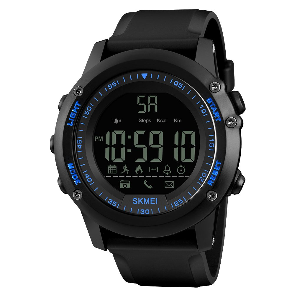Anself Sports Smart Watches for Men BT 4.0 Smartwatch IP67 Waterproof 5ATM Call APP Reminder Pedometer Tracker Remote Camera for IOS Android