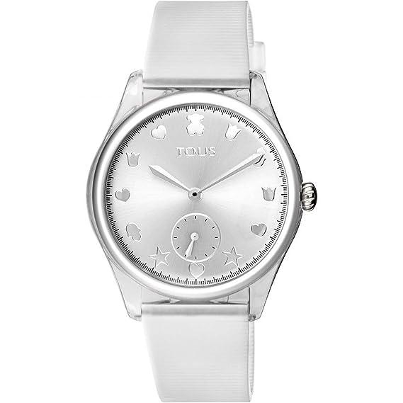 72aa282c7bbe Reloj Tous 900350075 Free Fresh de Acero y policarbonato con Correa de  Silicona Blanca  Amazon.es  Relojes