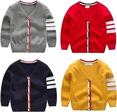 Weixinbuy Toddler Baby Girls Boys Knitted Long Sleeve Basic Sweater Cardigan Clothes Coat