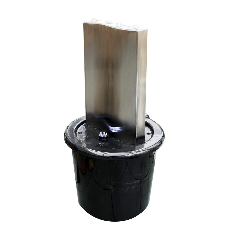 K/öhko/® Wasserwand Libro mit LED-Beleuchtung H/öhe ca 71 cm Wasserspiel mit PE-Becken 23014S