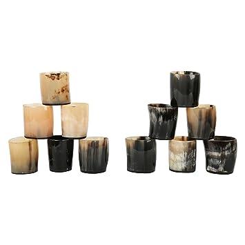 Juego de vasos de chupito de cuerno real, estilo vintage, de Handicrafts Home: Amazon.es: Hogar