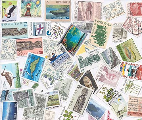 Withdrew 02-28-19-Faroe Islands Stamp Collection - 100 Different Stamps