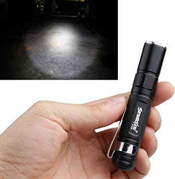 Mini Flashlight Penlight Pocket Light Zoomable Outdoor Torch Camping Lamp