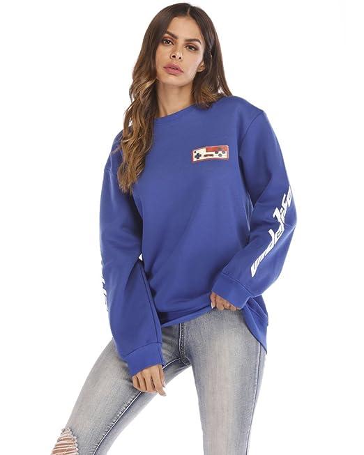Minetom Riverdale Pullover Sudadera de Cuello Alto Serpentina Sudadera Azul ES 34