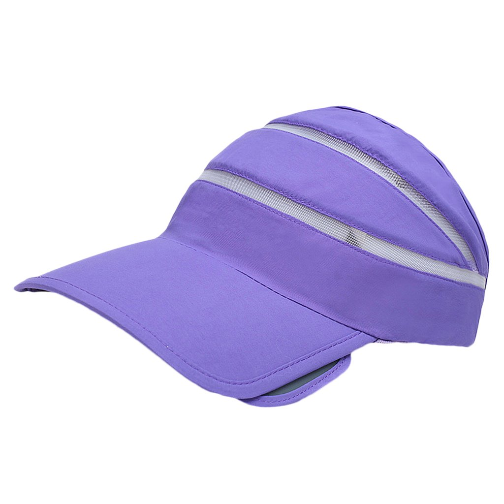 Anbau Men Women Summer UV Protection Sports Clothing Accessory Sun Visor  Adjustable Hat Cap Purple  Amazon.in  Clothing   Accessories 6cdc75a723c4
