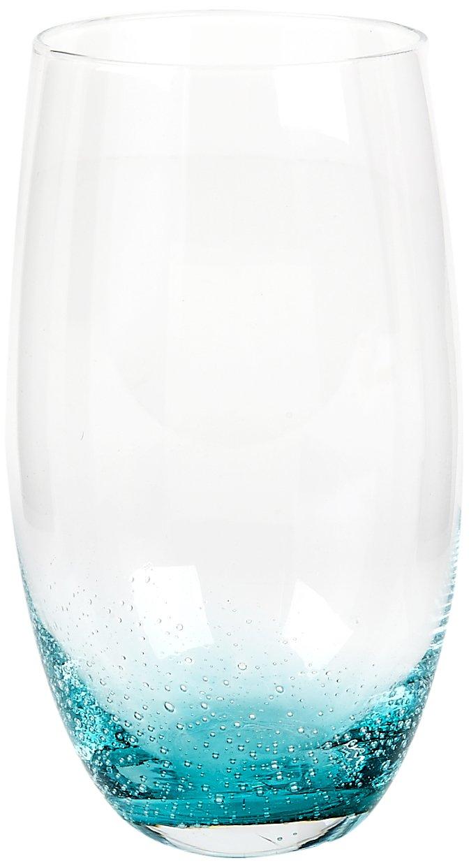 Impulse Nassau Highball, Clear/Aqua, Set of 4 Impulse Enterprises 5192SET-4