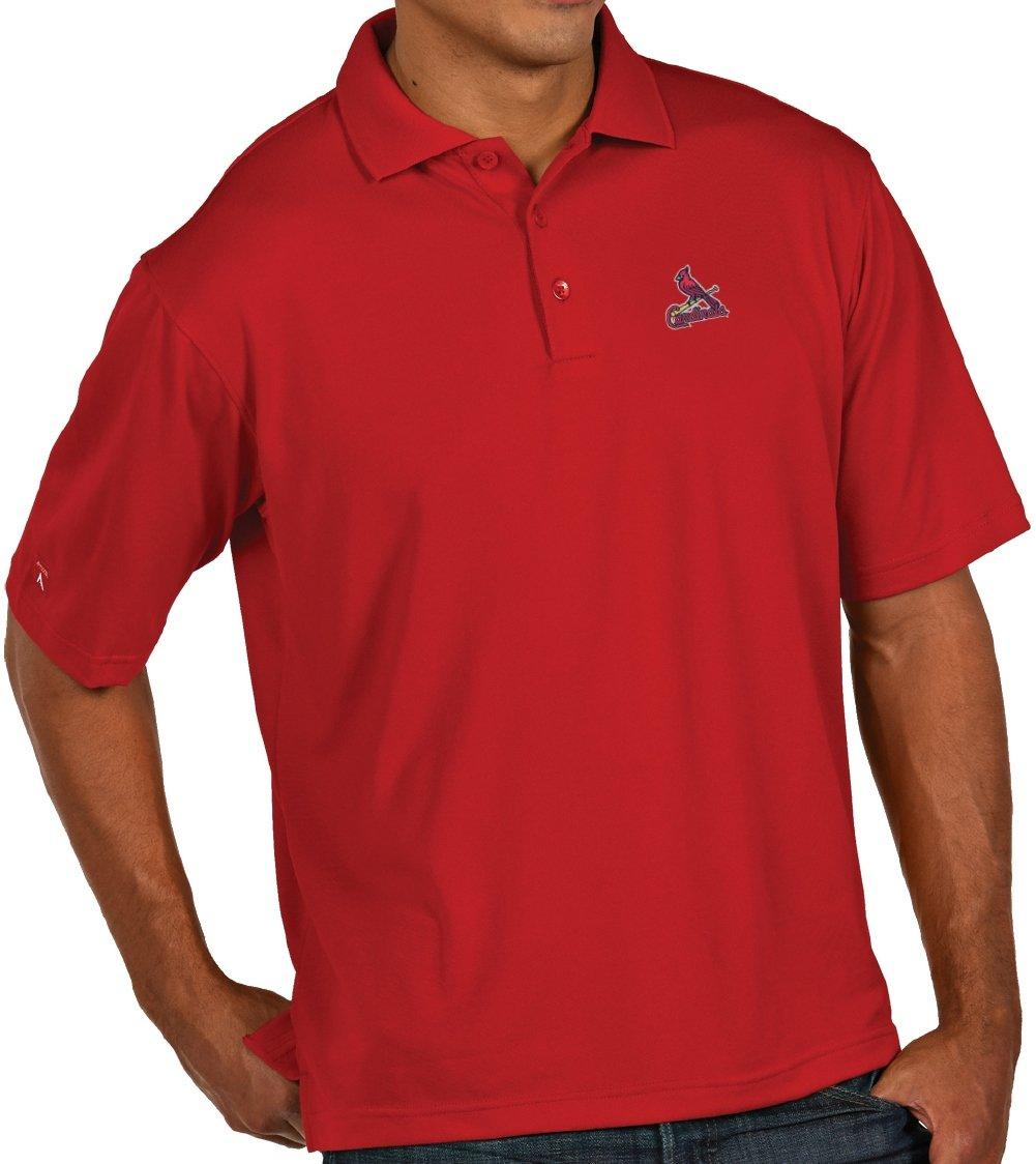 Amazon.com   Antigua Men s St. Louis Cardinals Pique Xtra-Lite Desert Dry  Moisture Management   Sports Fan Polo Shirts   Sports   Outdoors e081fd8dd