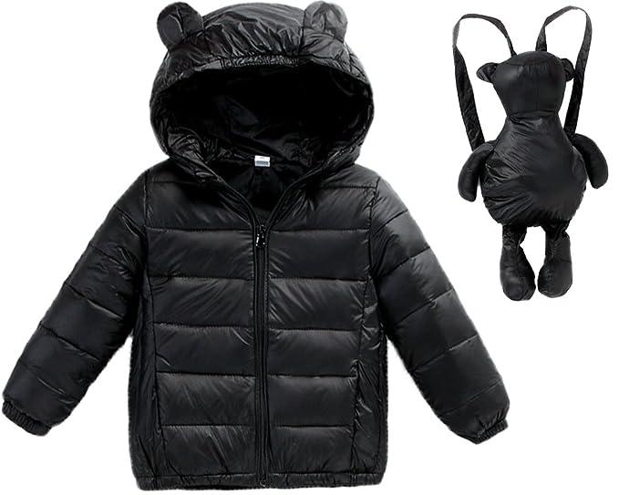 16406e2da Little Girls Kids Baby Boys Lightweight Winter Puffer Coat Down ...