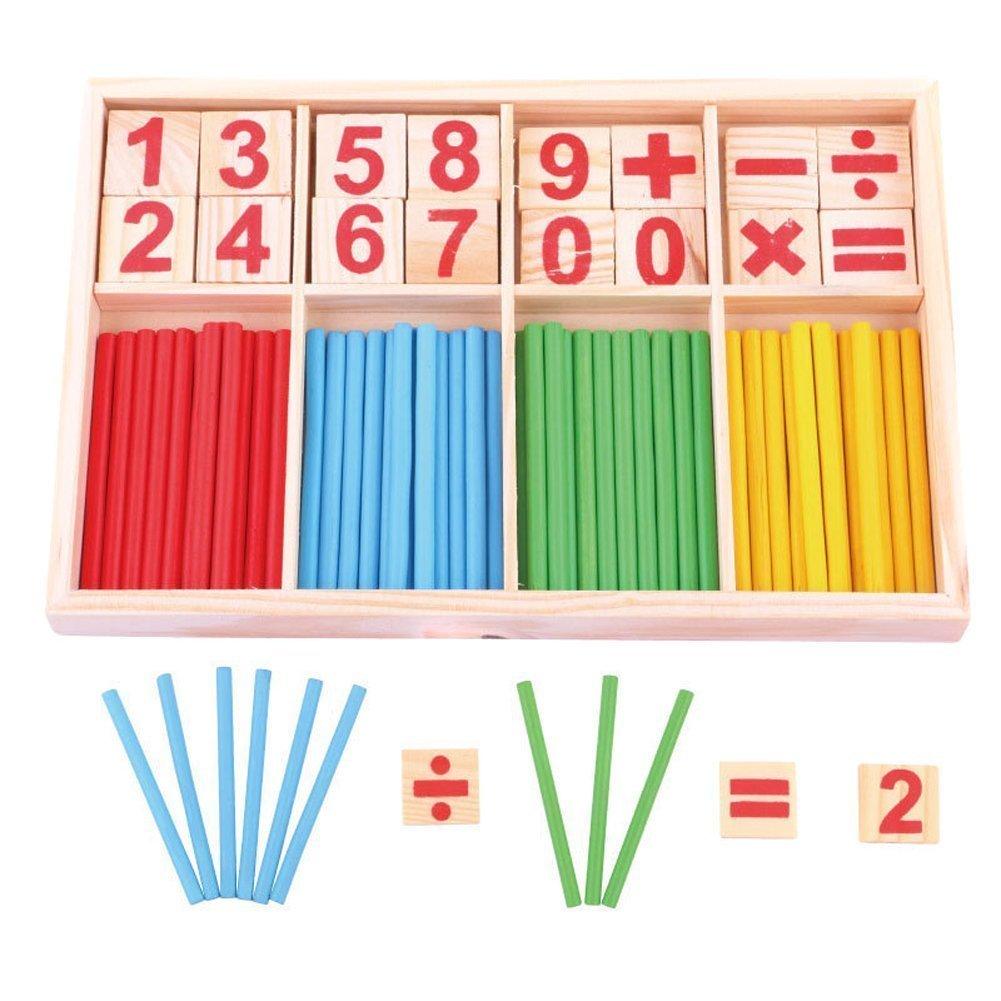 Lucky Will bambini parati legno zaehlst aebchen Calcolo bacchette Abaco giocattolo educativo