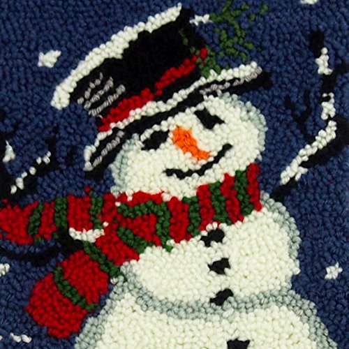 Glitzhome Hooked Snowman Christmas Stocking 19'', 1 Piece(Red, Blue, White)