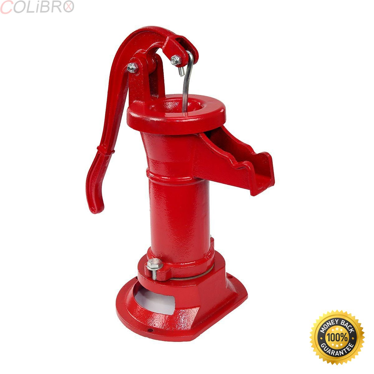 COLIBROX--New Antique Style Heavy Duty Cast Iron Red Well Hand Operated Pitcher Pump 25 Ft. Designed for rugged long life service All parts are made from close grain cast iron for optimum strength. by COLIBROX (Image #1)