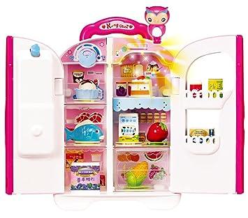KONGSUNI Serie de Nevera Que Habla para Niños, Juguete Juguete Alimentos Set Real de Agua del refrigerador Sale Juguete dispensador de Agua: Amazon.es: ...