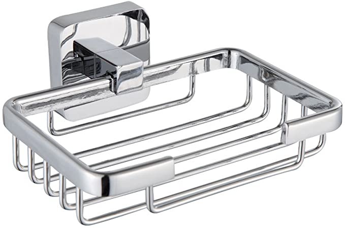 Stainless Steel Soap Dish Wall-Mounted Soap Rack Practical Soap Holder Silver