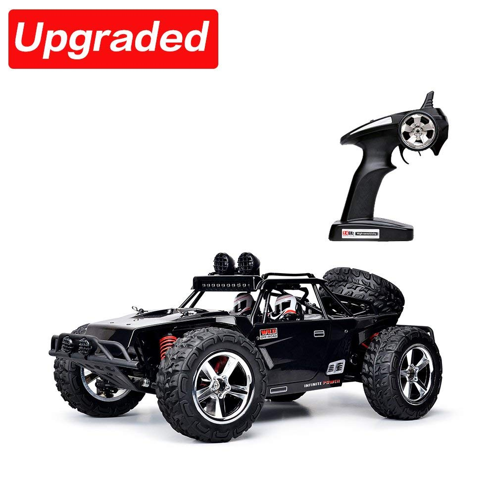 VATOS RC Car Vatos Monster Truck 1:12 High Speed 4x4 4WD 50M Remote Control Car Racing Rock Crawler Off Road 2.4Ghz Buggy High Speed Electric Vehicle Toy Black