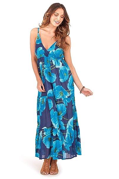 384ae1919636 Pistacchio , Maxi abito signore floreale in cotone con cinghie: Amazon.it:  Abbigliamento