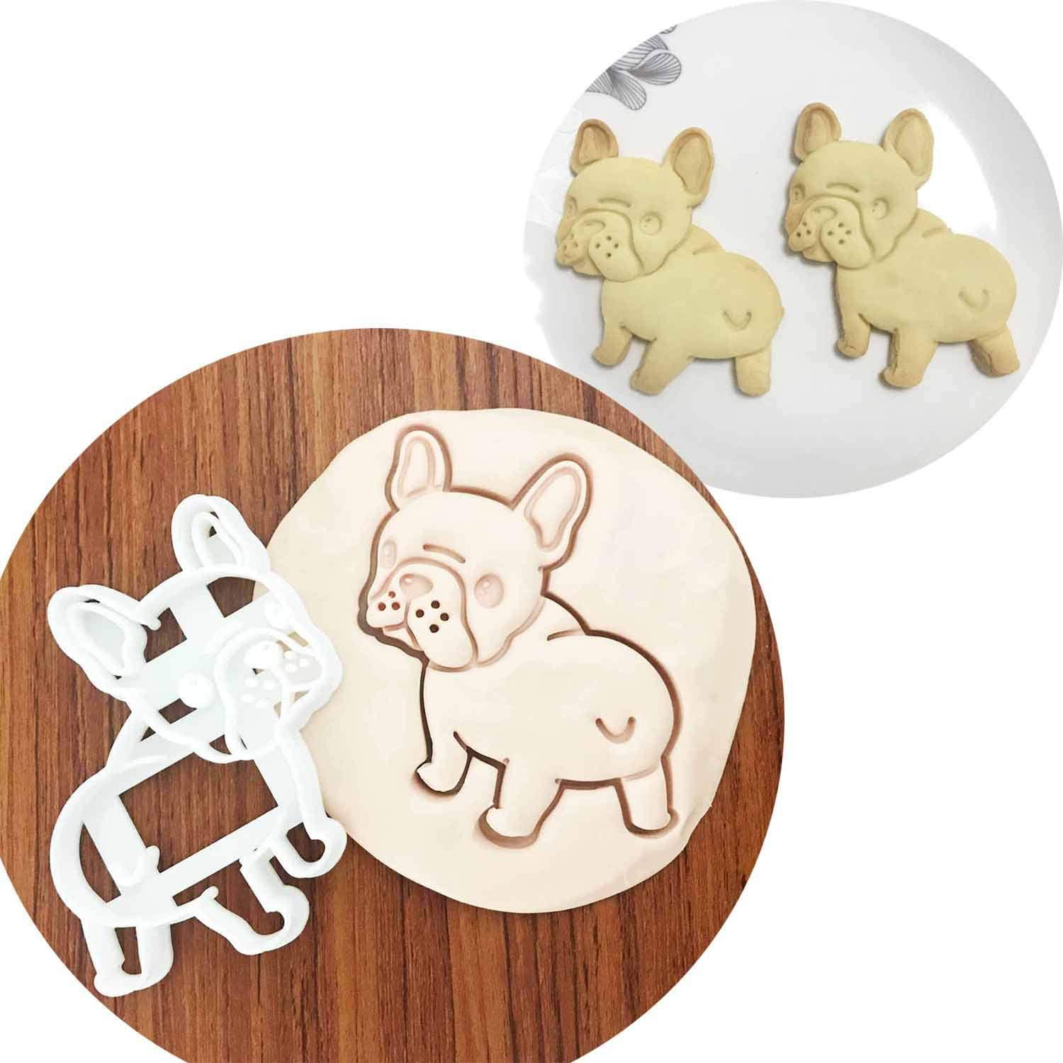 Details about  /Bulldog Cookie Cutter Play Doh Biscuit Pastry Dough Baking Mold Mould Cake Decor