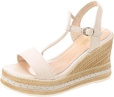 JERFER Sandales classiques Chaussures à talons compensés