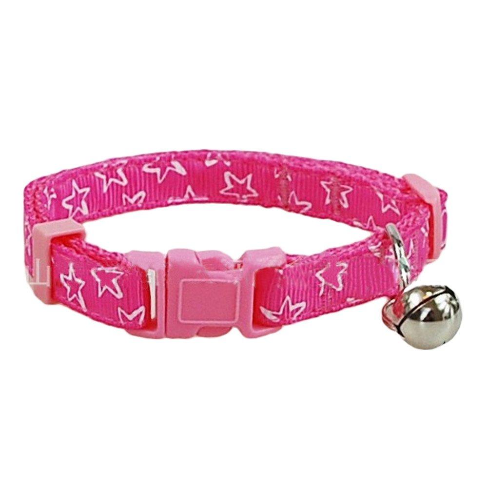 6er Set Krallen drucken Nylon Halsband Kleine Welpen Kätzchen Kitty Katzenhalsband mit Schelle 1 cm Breite oshide
