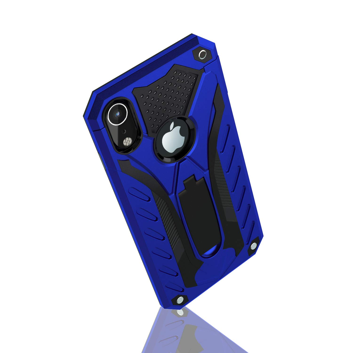 Kickstand 12ft Military Grade iPhone XR Case Wireless Charging Drop Tested Protective Case Blue Compatible with Apple iPhone XR