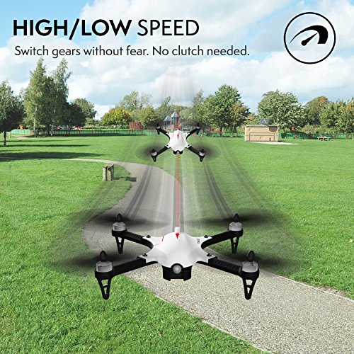 Force1 F100 Ghost Drone with Camera - 1080p Remote Control Brushless Drones w/ Go Pro Action Video Camera Mount & Extra Battery – Long Range RC Quadcopter Drone