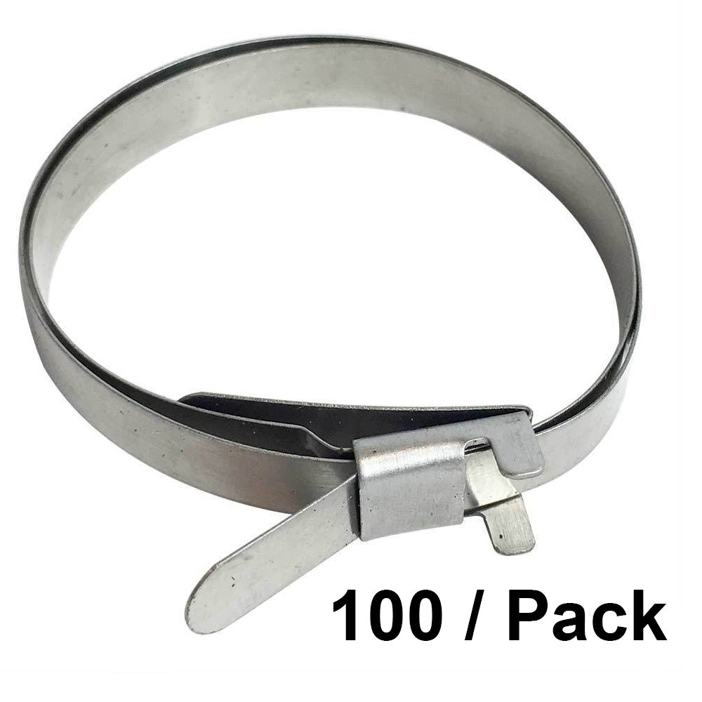 Interstate Pneumatics H920-100PK CV Boot Band Clamp - Round Large Type 100/PK