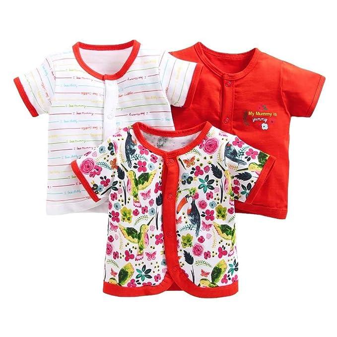 592f5c436 Bumzee Baby Cotton Front Open Half Sleeves Vest Tshirt Top for New ...