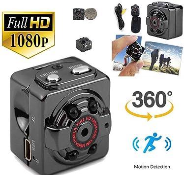melyseu Mini cámara, 1080p HD portátil cámara espía oculta con ...