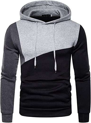 MODOQO Mens Long Sleeve Hoodies Pullover Sweatshirt Soft Warm Coat Outwear
