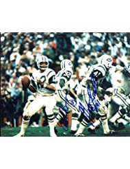 New York Jets Matt Snell & Emerson Boozer Both Autographed/ Original Signed 8x10 Color Action-photo Showing Joe Namath
