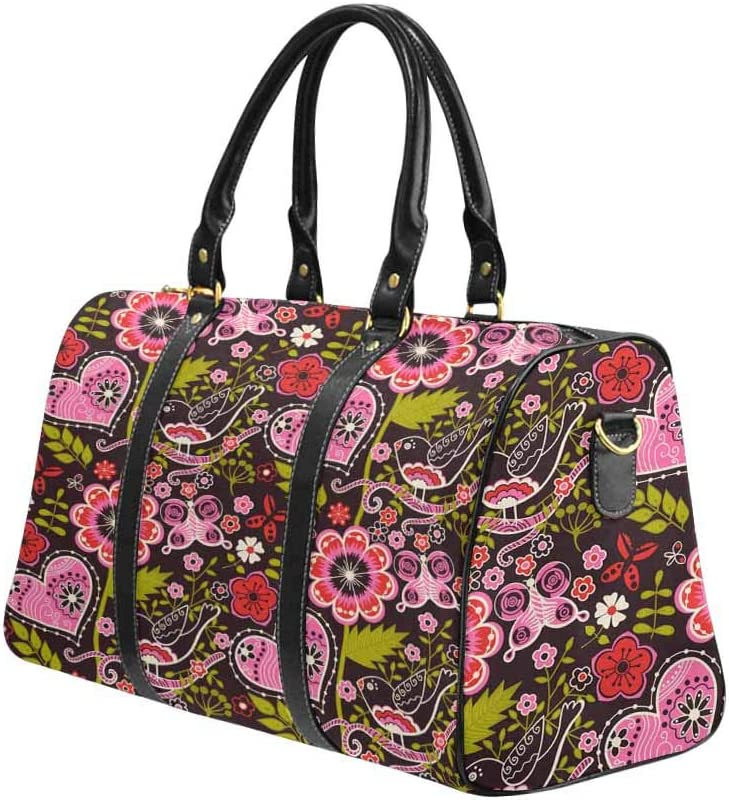 Flight Bag Gym Bag Flowers InterestPrint Large Duffel Bag