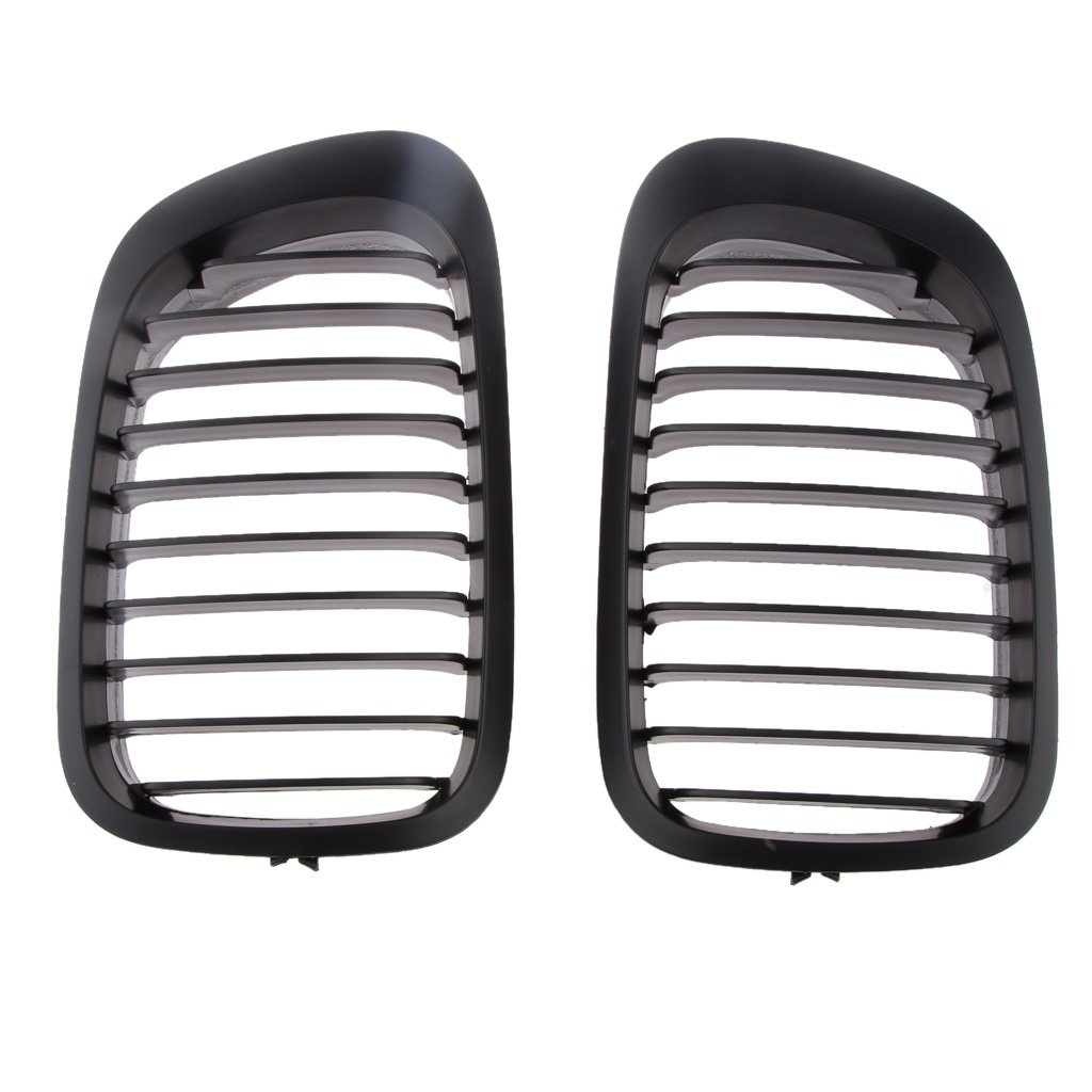 Gloss Black Front Grill For BMW 3 Series E46 Couple 2-Door 99-02 Generic