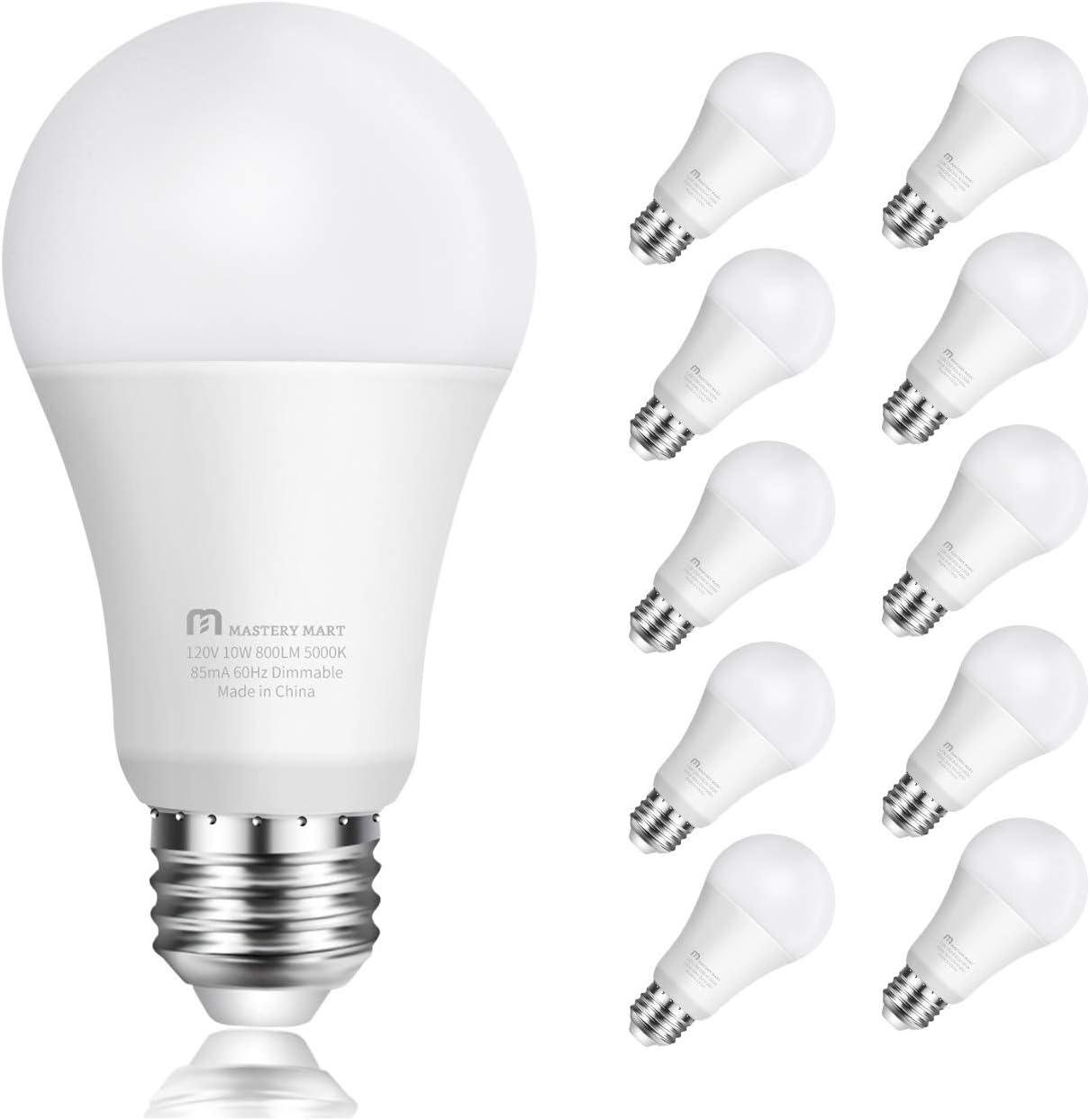 20 pack LED Light Bulbs New 60 Watt Equivalent A19 Dimmable Daylight 5000k Lot