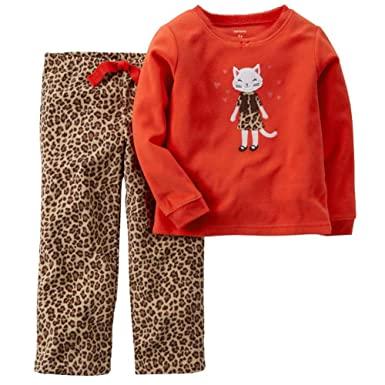 c2bd0aeea Amazon.com  Carters Toddler Girls Leopard Print Pajama Kitty Cat ...