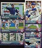 Toronto Blue Jays 2015 Topps MLB Baseball Regular Issue Complete Mint 25 Card Team Set with Jose Bautista, Jose Reyes, Brett Lawrie Plus