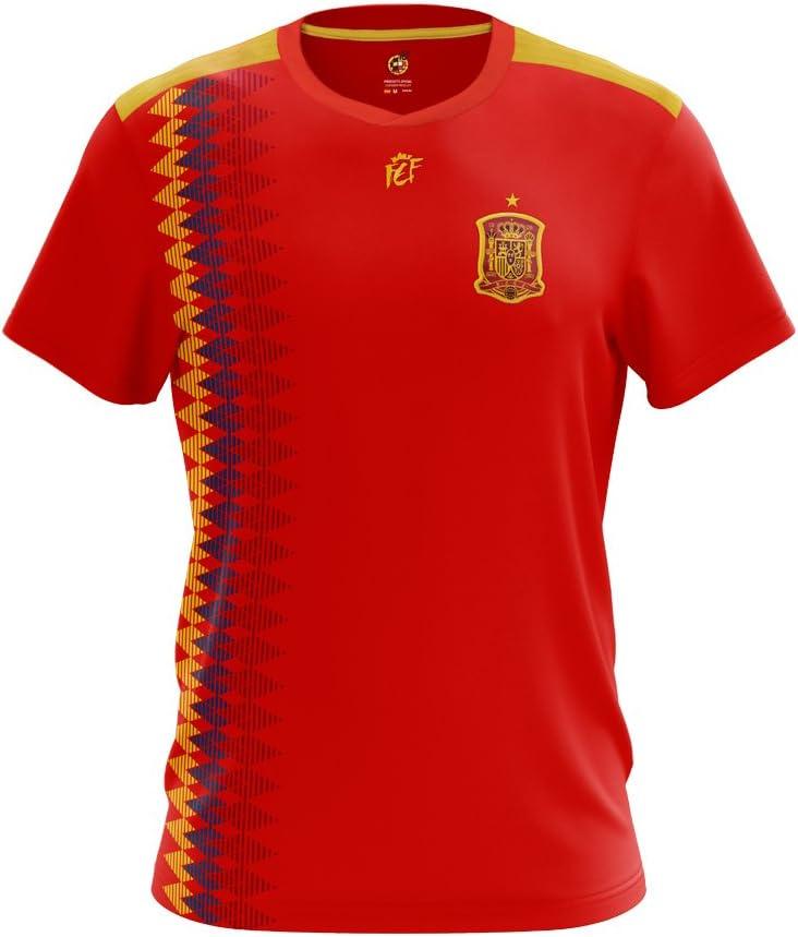Producto Oficial RFEF Camiseta Replica Oficial Federación Española de Futbol 2018: Amazon.es: Deportes y aire libre