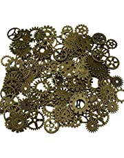 200 Gram Assorted Vintage Metal Steampunk Watch Gears Cogs Charms Pendant for Crafting DIY Necklace Pendant Jewelry Making