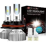 4WDKING 9007 LED Headlight Bulbs - Fanless Super Bright High/Low Beam 60W 8000LM 6500K Cool White HB5 Conversion Kit…