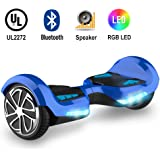 TOMOLOO Hoveroard with Bluetooth Speaker and Lights - Blue Hover Board with App UL2272 Certified…