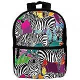 Safari Africa Zebra Childrens School Backpacks Casual Daypack Travel Outdoor For Boys And Girls