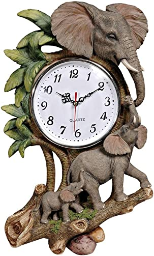 Unique Climbing Elephant Childs Room Wall Clock Daycare