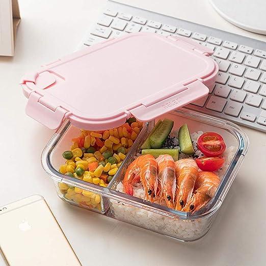 Bento Box_Separate Microondas Glass Lunch Box Japonés Estudiante ...