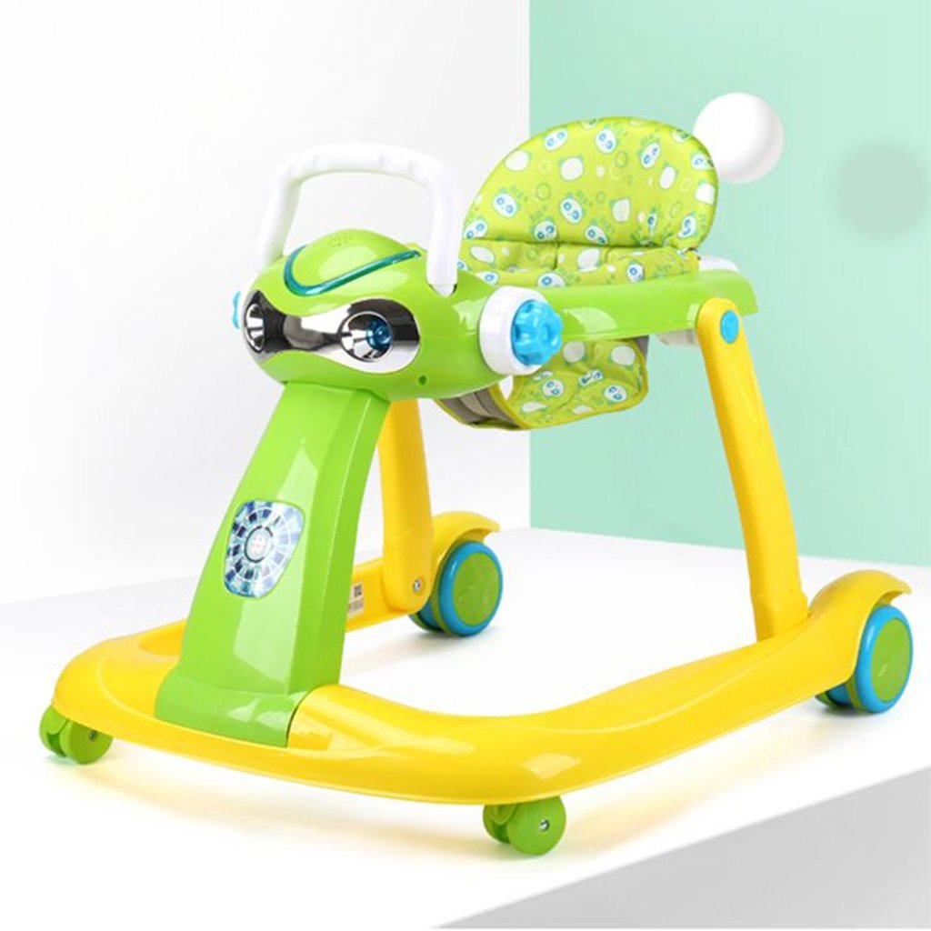 HAIZHEN マウンテンバイク PP +布ベビーウォーカー6/7-18ヶ月幼児のアンチロールオーバー多機能玩具は、折り畳むことができる折り畳み式の赤ちゃんキャリッジ座ることができます68 * 58 * 59センチメートル 新生児 B07DMQ71L92