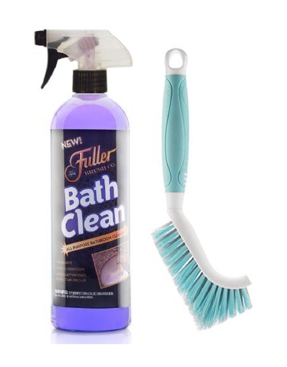 Fuller Brush BathClean 24 Fl Oz Bottle Bundle with Premium Tile & Grout Brush by Fuller Brush
