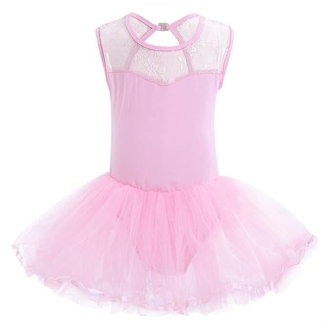 YIZYIF Leotardo Maillot Vestido Tutú Para Nña Bebé 3-14 Años Disfraces Fiesta Cumpleaños Vestido