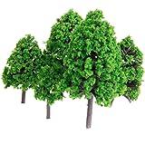 22本セット 樹木 木 モデルツリー 情景コレクション ザ・鉄道模型・ジオラマ・建築模型・電車模型に 3-16 cm 緑